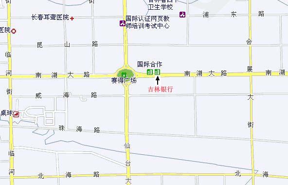 吉林银行招聘白山考试地图